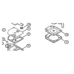 Kit membranes carburateur STIHL