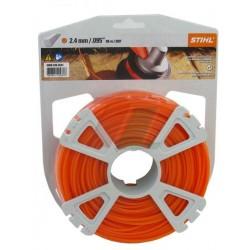 Fil nylon STIHL Carré diamétre 2.4 mm Rouleau de 86 métres