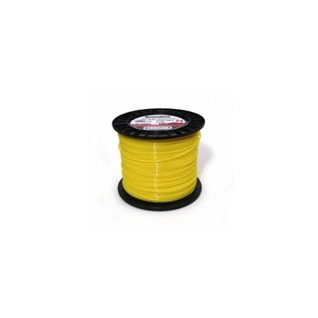 Fil nylon rond jaune STILH 3 mm - 168m