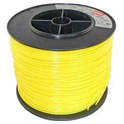 Fil nylon rond Stihl jaune Dia. 3mm - Long. 271 mètres