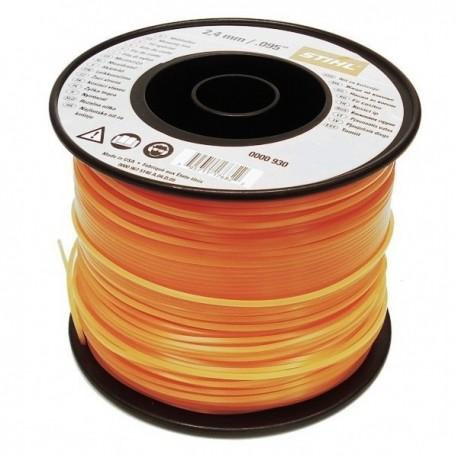 Fil silencieux nylon orange STIHL 2.4 mm - 261m
