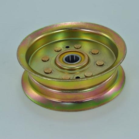 Poulie métal gorge plate john Deere Dia. ext 132.5mm L105 L107 L120 L145 X110 X120 X125 X140 Z235