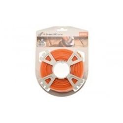 Fil Nylon STIHL rond et Silencieux orange 2.4mm - 14M