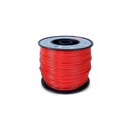 Fil nylon carré Stihl rouge Dia 2.7mm - Long 208 Mètres