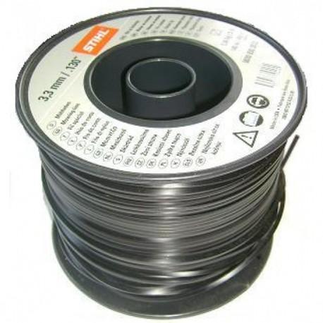 Fil carré noir nylon STIHL 3.3mm - 140m