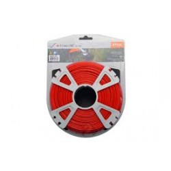 Fil nylon rond rouge STIHL 2.7mm - 68 m