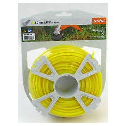 Fil nylon rond jaune STILH 3mm - 55M