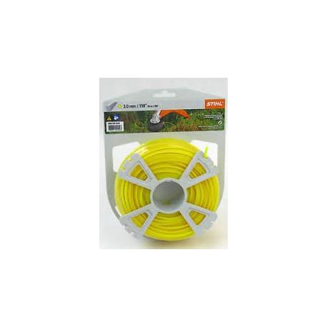 Fil nylon rond Stihl jaune Dia. 3mm - Long. 53 mètres 00009302344
