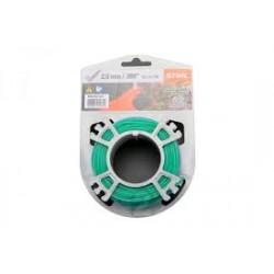 Fil silencieux nylon vert STIHL 2mm - 15.3m