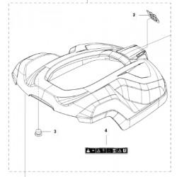 COQUE ROBOT GRISE 420 AUTOMOWER HUSQVARNA
