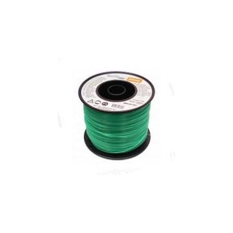 Fil nylon STIHL Carré vert foncé 4.0mm - 90M