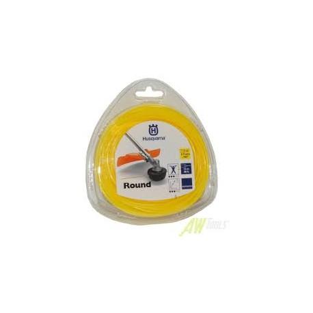 Fil nylon HUSQVARNA rond standard 2.7mm / 12M