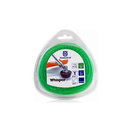 Fil nylon HUSQVARNA rond WHISPER 2.0mm / 15M