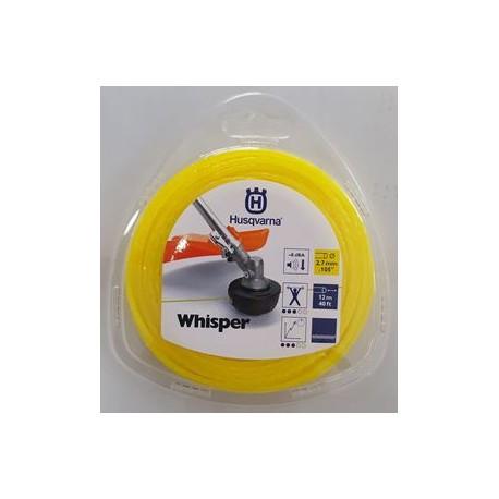 Fil nylon HUSQVARNA rond WHISPER 2.7mm / 12M