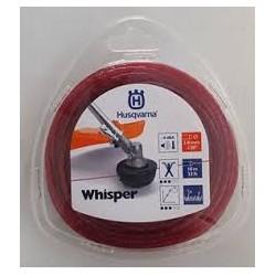 Fil nylon HUSQVARNA rond WHISPER 3.0mm / 10M