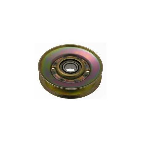 Poulie tendeur JOHN DEERE X115R LT 155 LT 166 métal gorge trapezoïdale D.94mm