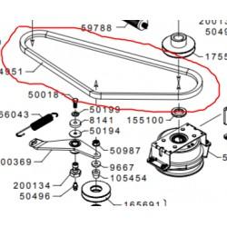 courroie moteur- poulie intermediaire grillo FD450