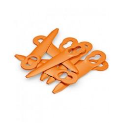 Jeu de 8 couteaux PolyCut 2-2 orange