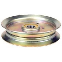 Poulie métal gorge plate D.114mm