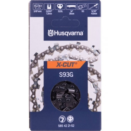 Chaine tronçonneuse Husqvarna X-CUT S93G 52 maillons
