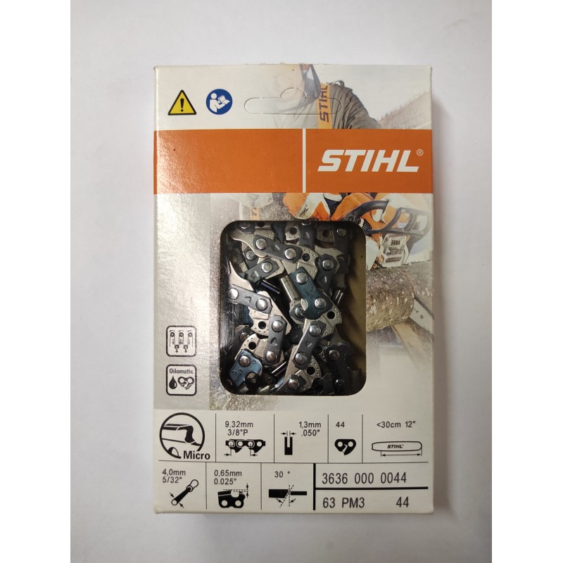 """Lot de 4 STIHL MS180 12/"""" Bar Remplacement tronçonneuse chaîne 1.3 mm 44 maillons"""