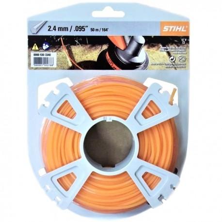 Fil penta orange STIHL 2,4mm - 50m
