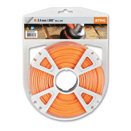 Fil penta orange STIHL 2,4mm - 100m