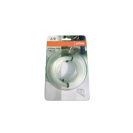 Fil nylon rond Stihl transparent Dia. 1.4mm - Long. 16 mètres 00009302284