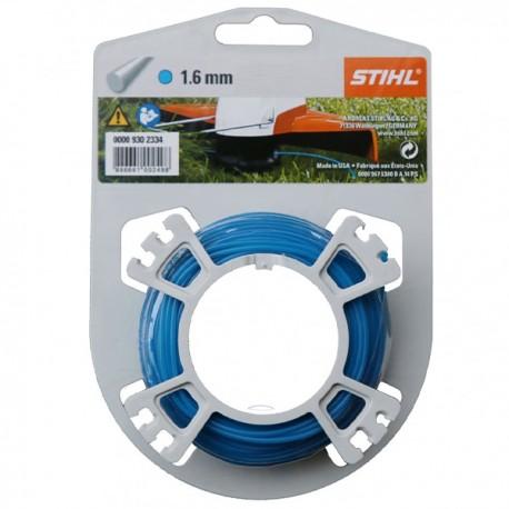 Fil nylon rond Stihl bleu Dia. 1,6mm - Long. 19 mètres