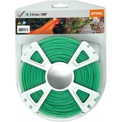Fil nylon rond vert STIHL 2mm - 60m