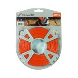 Fil nylon rond Stihl orange Dia. 2.4mm - Long. 14 mètres