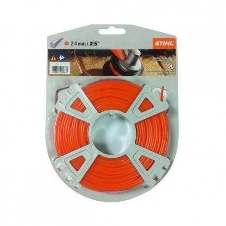 Fil nylon rond Stihl orange DIA. 2.4mm - Long. 83 mètres 00009302340