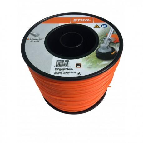 Fil nylon rond orange Stihl Dia. 2.4mm - Long. 253 mètres 00009302246