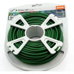 Fil nylon rond Stihl vert foncé Dia. 4mm - Long. 27 mètres 00009303607