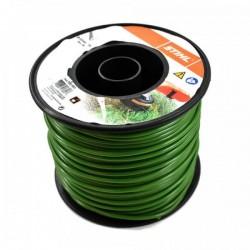 Fil nylon rond Stihl vert foncé Dia. 4mm - Long. 87 mètres