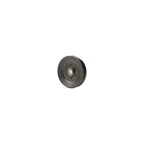 Poulie métal gorge trapezoïdale